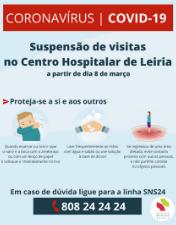 CHL restringe visitas para prevenir contágio de utentes e profissionais pelo novo Coronavírus