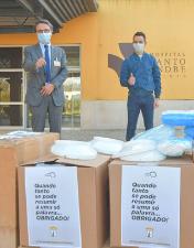 Árbitros portugueses oferecem equipamento de proteção individual aos profissionais do CHL